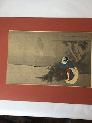 antique original japanese woodblock print