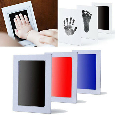 8B2A Newborn Baby Handprint Footprint Watermark Kit Commemoration