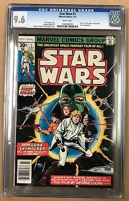 Star Wars #1 Marvel 1977 CGC 9.6 Part 1 of A New Hope (BB MO)