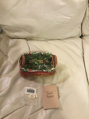 "Longaberger 2002 Tree Trimming ""treats Basket"" W/liner And Tie-On"