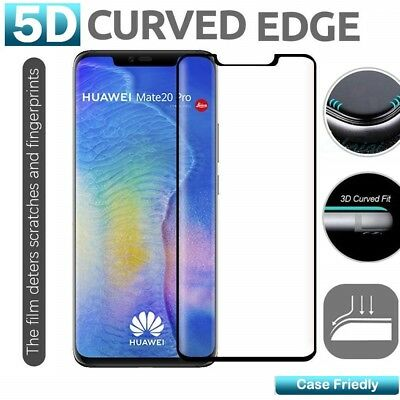 For Huawei Mate 20 Pro Edge Curved Screen Protector Cover Tempered Glass Guard
