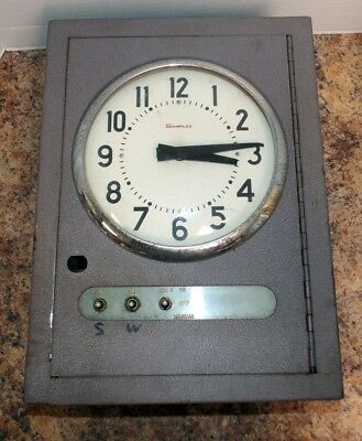 Vintage Simplex Time Recorder R83 School Clock Bell Control