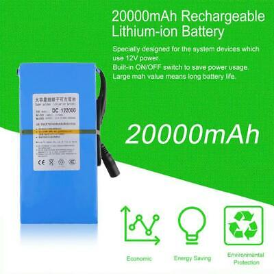 Portable DC 12V 1800-20000mAh Rechargeable Lithium Battery With Charger Adapter