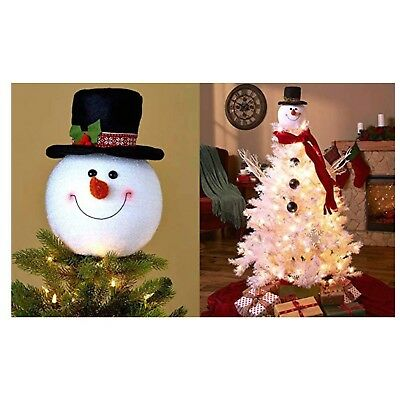 Frosty Snowman Top Hat Christmas Tree Topper Decor Holiday Winter Wonderland ...