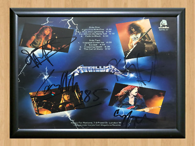 Metallica Master Of Puppets Signed Autographed A4 Poster Photo Memorabilia cd