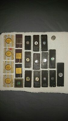Scrap Vintage Ic Chip Lot For Gold & Silver Precious Metal Recovery Intergrated