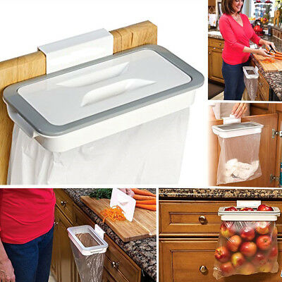 Kitchen Bracket Garbage Rubbish Trash Bag Hanger Rack Attach Holder Cabinet