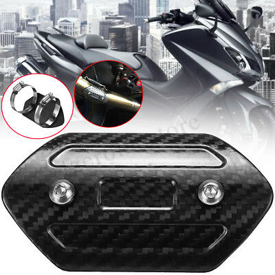 Motorcycle Carbon Fiber Exhaust Pipe Protector Heat Shield Cover Guard