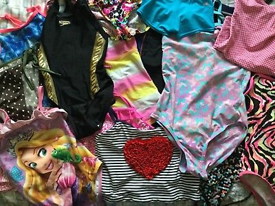 Joblot Of Childrens Swimwear, Tops Bottoms Swimsuits All In Ones Approx 20 Items