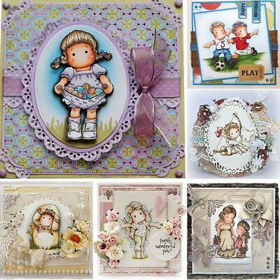 Crafts Photo Album Transparent Stamp Scrapbooking Lovely Girl Silicone Rubber