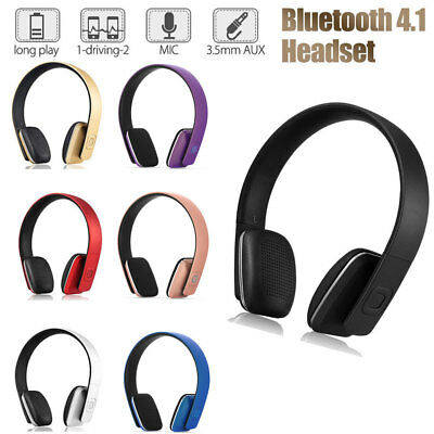 Wireless Bluetooth Headphones Foldable Headset Stereo Heavy Bass Earphones New