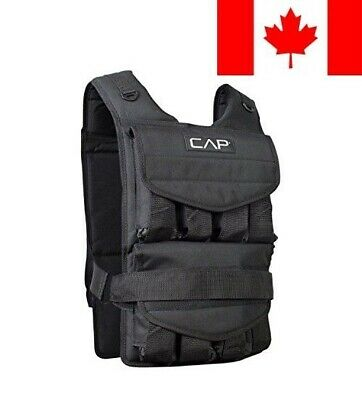CAP Barbell Adjustable Weighted Vest, 60 lb