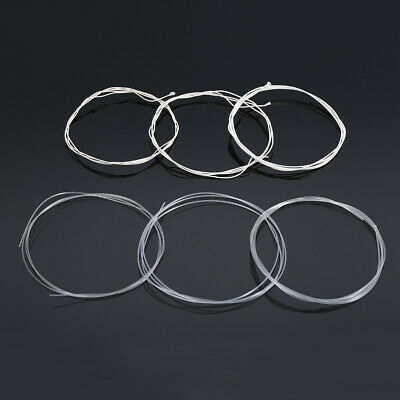 6Pcs Durable Nylon Strings Silver Plated Set For Classical Acousitc Guitar Accs
