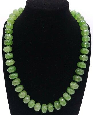 Huge 8x12mm Faceted Green Peridot Gemstone Abacus Beads Natural Necklace AAA+