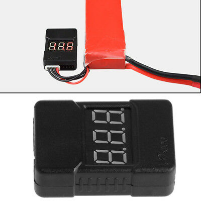New BX100 1-8S Lipo Battery Low Power Voltage Display Tester Buzzer Alarm
