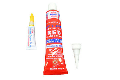 CLEAR RTV SILICONE GASKET MAKER Hi-TEMP SEALANT 85G (3oz.) + GLUE D22