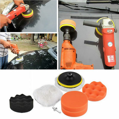 Car Polisher Pad Buffer Gross Polish Polishing Kit Set Drill Adapter UK STOCK