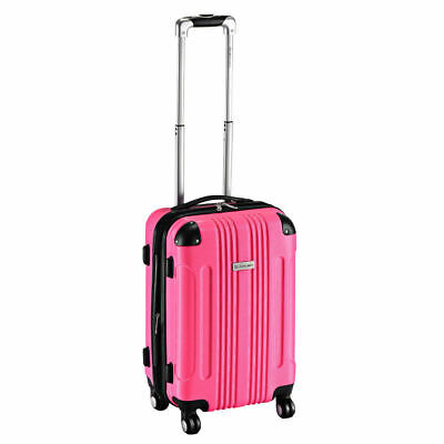 "GLOBALWAY 20"" Expandable ABS Luggage Carry on Travel Bag Trolley Suitcase New"