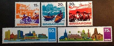 Singapore 1971  Set Of 5 Stamps Mint Mnh