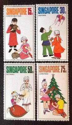 Singapore 1971  Set Of 4 Stamps Mint Mnh