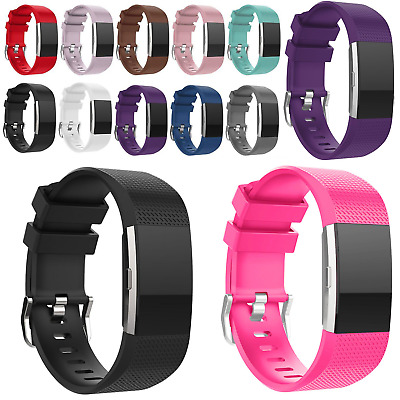 Replacement Strap for Fitbit Charge 2 Premium Soft Band Secure Tracker Wristband