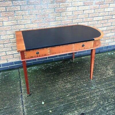 Unusual Art Deco Style Partners Leather Top Desk