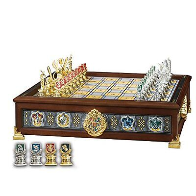Quidditch Chess Set Silver & Gold Plated : Noble Collection - NEW