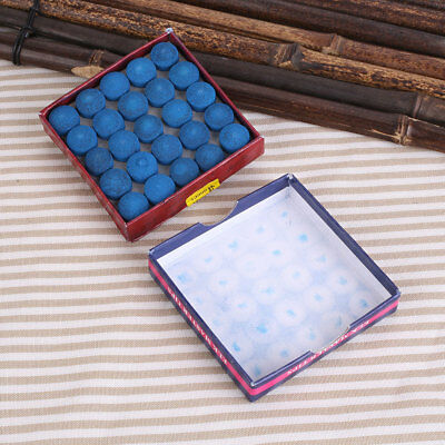 50pcs 13mm Blue Billiard Snooker Pool Cue Tips Hardness Stick Accessories VA