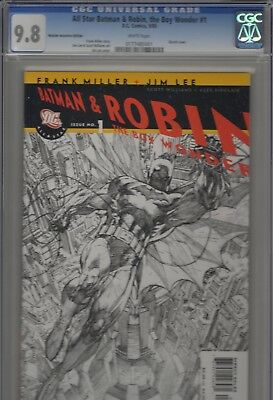 All Star Batman And Robin #1  Cgc 9.8 - Jim Lee Rrp Sketch Cover