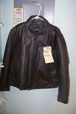 Vintage Taylors Leatherwear Uniform Leather Jacket SZ 46