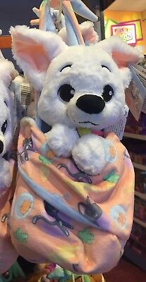 """Bolt Baby Plush with Blanket Pouch 10"""" Babies Disney Theme Parks NEW"""