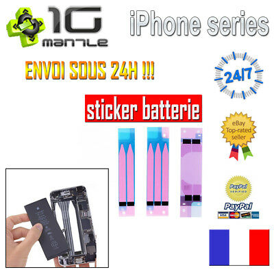 IPHONE 5 5C 5S 6 6S 6+ 7 8 Plus X - STICKER ADHÉSIF BATTERIE AUTOCOLLANT