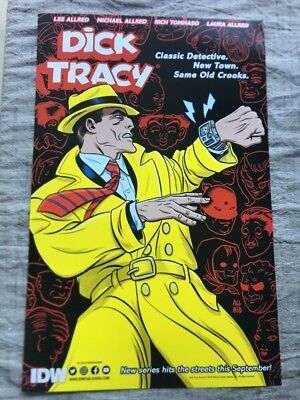 SDCC 2018 Dick Tracy IDW Poster 11 X 17