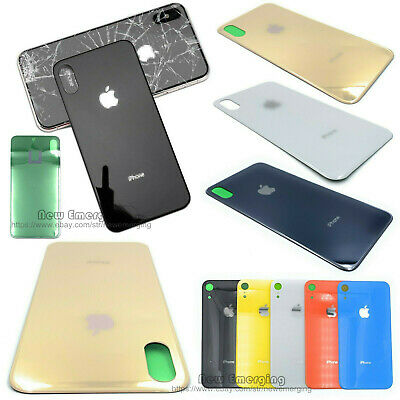 For iPhone XsMax XR X 8p Battery Cover Glass Housing Rear Back Door Replace Part