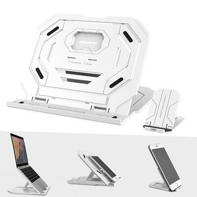 Portable Laptop+Phone Stand Tablet Holder Adjustable Notebook Cooling Riser D4L2
