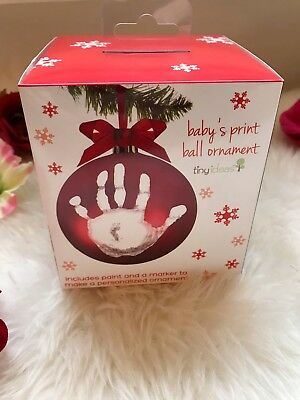 Tiny Ideas My First Christmas Hand Print Ornament Ball New in Box