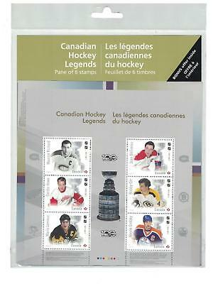 2017 CANADA POST CANADIAN HOCKEY LEGENDS Full Pane Sheet Sealed STAMPS