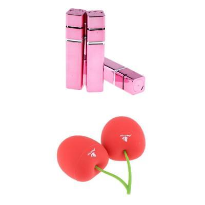 3pcs Stylish Empty Lipstick Containers Non-toxic Lip Balm Tubes+Lip Enhancer