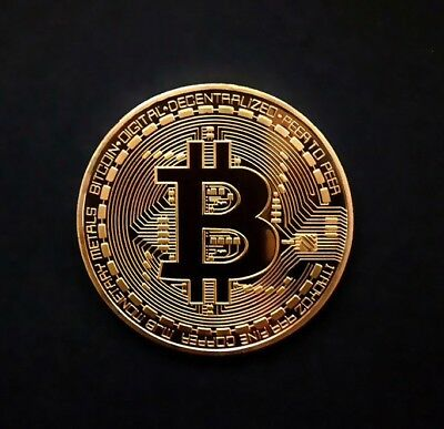 Bitcoin 24k Gold Plated Physical Commemorative Coin