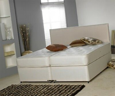 5Ft Or 6Ft Majestic Micro Quilted  Zip & Link Divan Bed Set