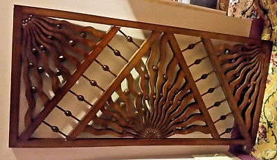 "Stunning Moorish Antique Fretwork Stick/ball/wavy Strips 47""x22""x1 1/4"" Minty!!"