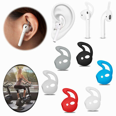 Silicone Ear hooks Holder For Apple iphone AirPods Strap Sports Accessories Pair