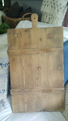 Antique French Bread Board - Wood- Display/Countertop/Hang/ Kitchen/Mantel