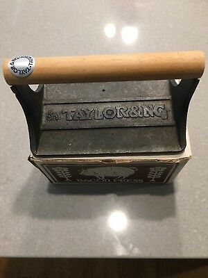 Vintage 1978 Taylor & NG Cast Iron Pig Heavy Duty BACON PRESS - New Old Stock