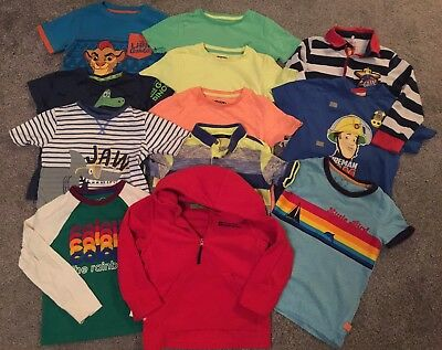 Boy Mixed Bundle Fleece T-shirts Tops Age 3-4 Yrs Good Clean Condition