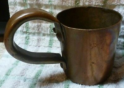 Vintage Copper W.r.p. 1 Gill Spirits Measure Cup With Later Attached Handle C190