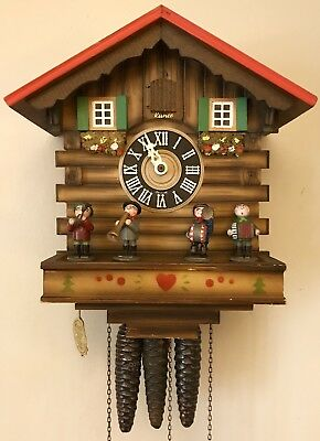 Kuner Musical Oompah Band One Day Black Forest German Cuckoo Clock!