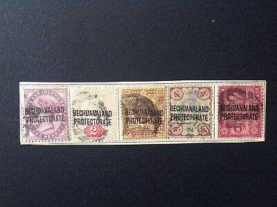 Bechuanaland Protectorate stamps overprinted on Victorian GB issues.