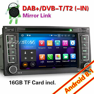 Android 8.1 DAB+ Autoradio GPS Wifi BT DTV CD Canbus For VW Touareg T5 Multivan