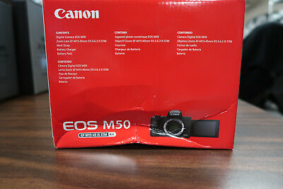Canon M50 with 15-45mm Lens Black - BOX DAMAGE